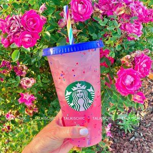 Starbucks Confetti Rainbow Color Changing Cup